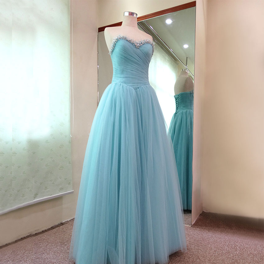 vestido de renda longo party prom free shipping robe de soiree 2018 beading sweetheart long Formal gown   bridesmaid     dresses
