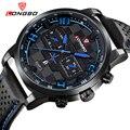 LONGBO Brand Business Sports Dynamic Dial Date Calendar Watch Leather Wristwatch Luxury Brand Watches montre femme 3006