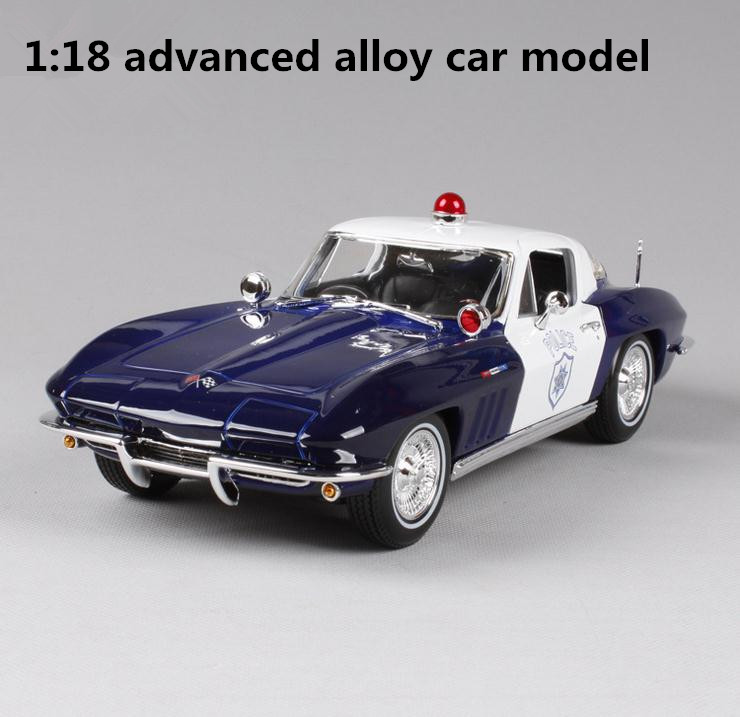 High imitation Chevrolet Corvette swat car, 1: 18 senior alloy collection model toys, metal castings, free shipping maisto jeep wrangler rubicon fire engine 1 18 scale alloy model metal diecast car toys high quality collection kids toys gift