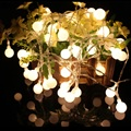 2.5M 20led PVC Ball Garland Light Strings Christmas Party Indoor Decoration Lighting Batteries Powered Holiday Lights