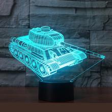 Colorful tanks 3D lights Christmas gifts night lights Novelty Luminaria Led 3d  Table Lamps Fixtures Kids Desk Lamp