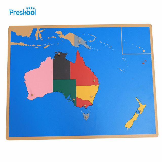 baby toy montessori puzzle australia map learning education early childhood education kids toys brinquedos juguetes