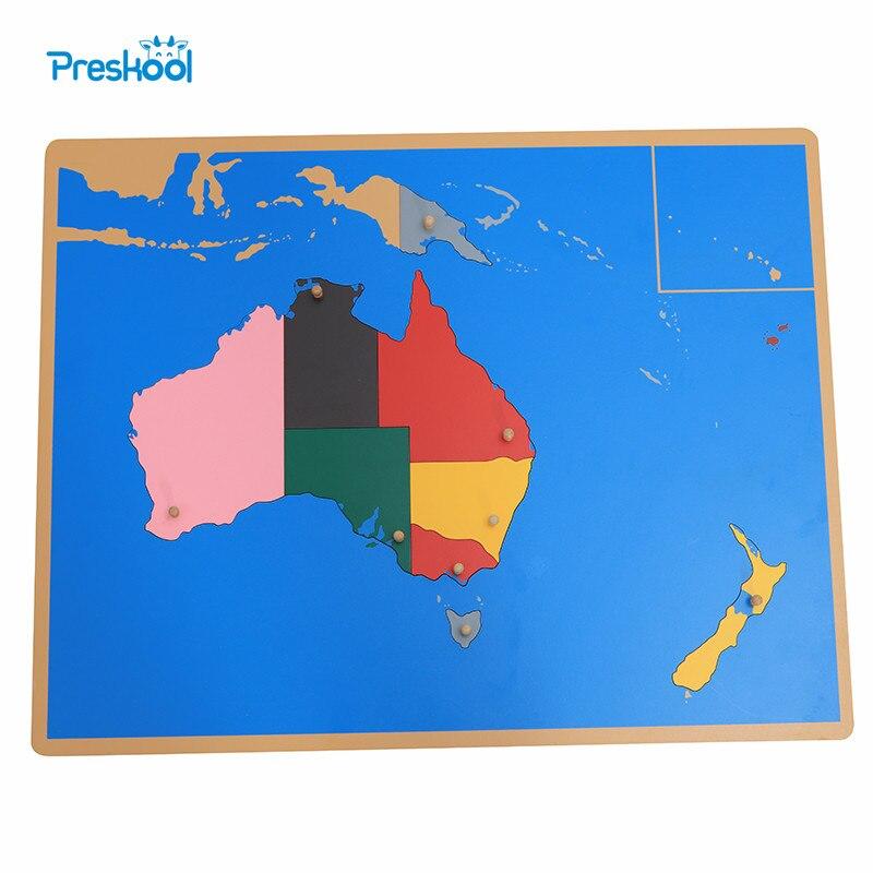 Jouet pour bébé Montessori Puzzle australie carte apprentissage et éducation éducation de la petite enfance jouets pour enfants Brinquedos Juguetes