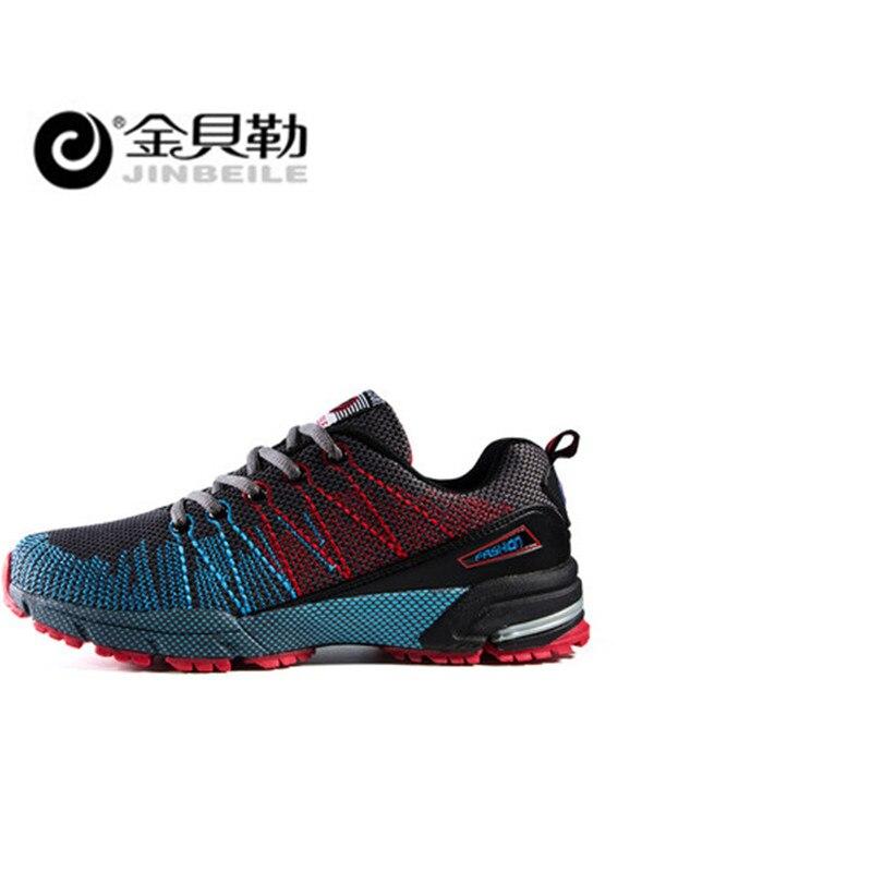 Jinbei, мужская спортивная обувь для бега, музыкальный ритм, мужские кроссовки, дышащая сетка, для улицы, спортивная обувь, светильник, мужская ... - 3