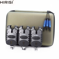 Carp Fishing Bite Alarms 3pcs And Fishing Swingers Drop Indicator 3pcs In Zipped Protection Case