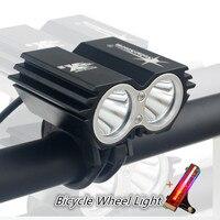 Bicicleta Luz 5000 Lumens 4 Modo XM L U2 LEVOU ciclismo Frente luz luzes de Bicicleta Lâmpada Tocha Com Roda Da Bicicleta Luz & Bateria Pack|bicycle light 5000 lumens|bike light lamp|light 5000 -