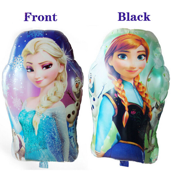 5pcs/lot 65*43cm Double sided princess Anna and Elsa Foil Balloons for Kids Part