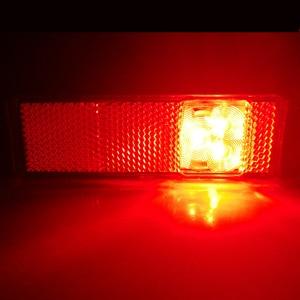 Image 3 - 2 PCS AOHEWEI 12 V 24V LED red side marker light indicator position led lamp sign light for tail light trailer light led truck