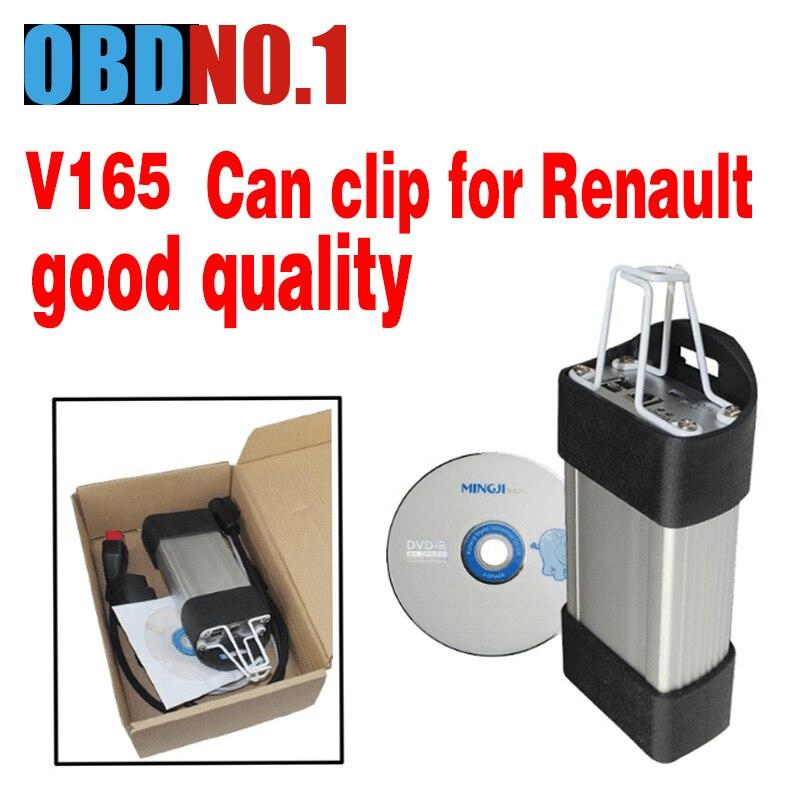Prix pour Vente chaude Renault PEUT Clip OBD2 Interface De Diagnostic V165 Renault Clip Scanner Outil Professionnel