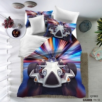 3D Swan LakeBedding Set 3pcs Twin Full Queen Size Bed Duvet Cover Set Bedding Set USA