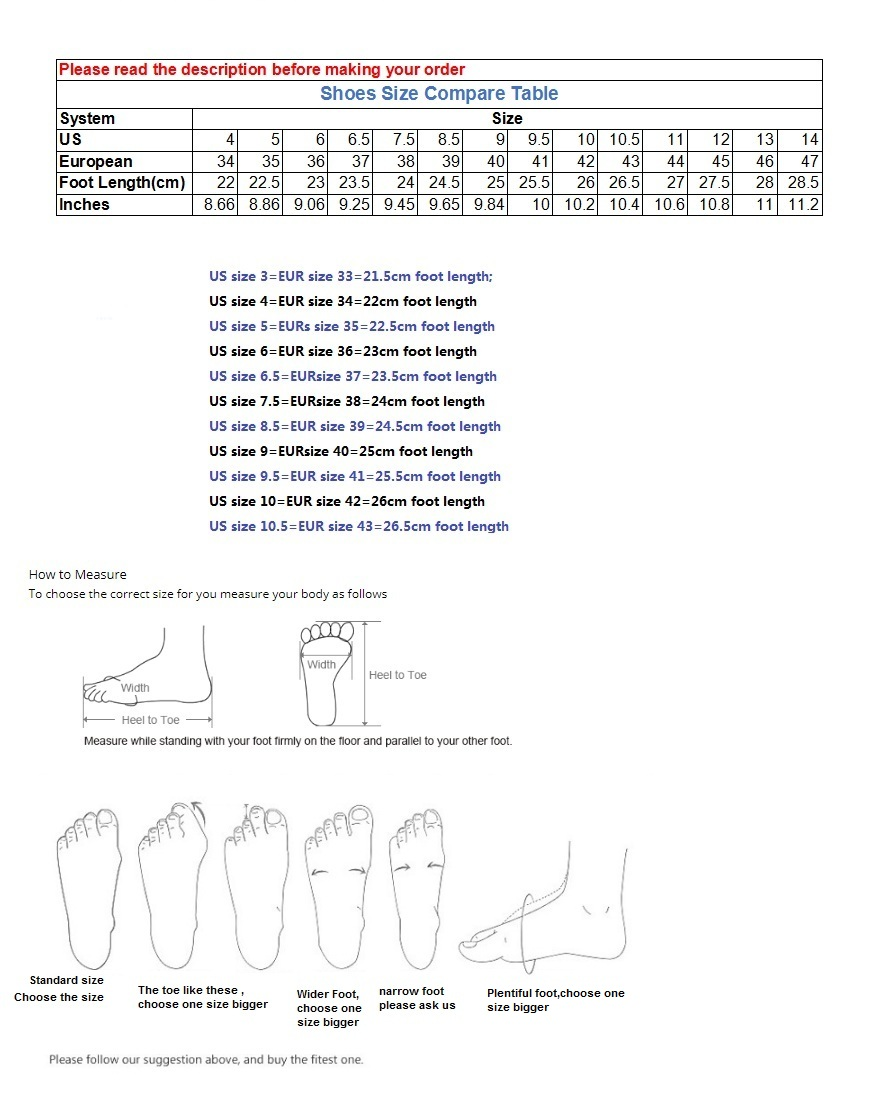Men Shoe Size