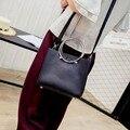 2016 новый повседневная женщины сумки кольцо ручки мешок плеча способа твердые композитный ИСКУССТВЕННАЯ кожа мини женские сумки посыльного, LB2568