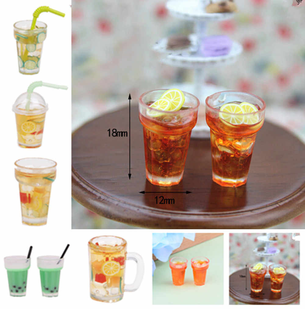1:12 Scale Mini Wine Beer Cup Dollhouse Craft Transparent Goblet Miniature Home Decoration Glass Model DIY Parts