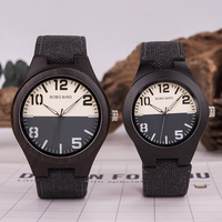 Reloj de madera pulso denim Hombre-Mujer 1