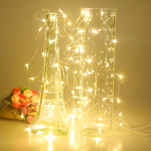 Quality 6m 60 LED Copper Wire String Light Fairy Lamp 3AA Battery Box With Remote Control Wedding Party Festivals Decoration(China)