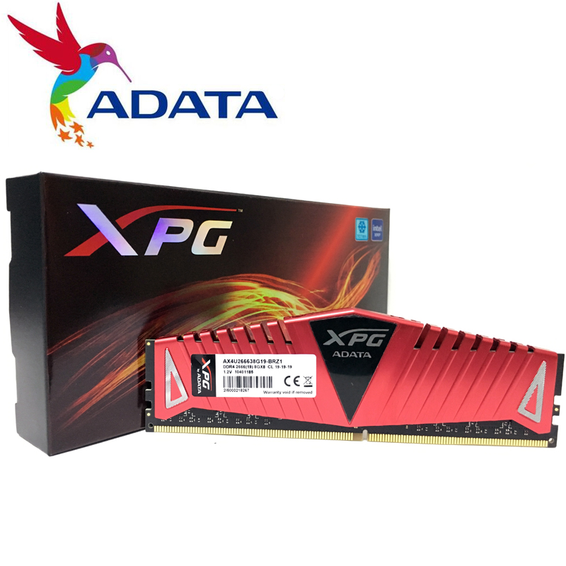 ADATA XPG Z1 PC4 ddr4 carneiro 8GB Suporte de Memória de 3000MHz 3200MHz 2666MHz DIMM de Desktop motherboard ddr4 8G 16G 3000