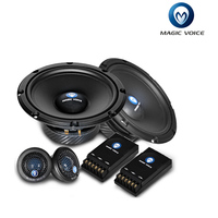 1 pair tweeter and 1 pair woofer 1 pair and 1 pair cross over 6.5 inch Car Speaker 2 way component kit Car HIFI MC C652
