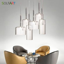 Glass Pendant Lighting Kitchen Lamp Dining room LED Light Nordic for Home Restaurant
