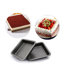 8 INCH Square Cube Carbon Steel Nonstick Roaster Cookware cake Tray Baking Pan Roasting cheesecake Pan цена и фото