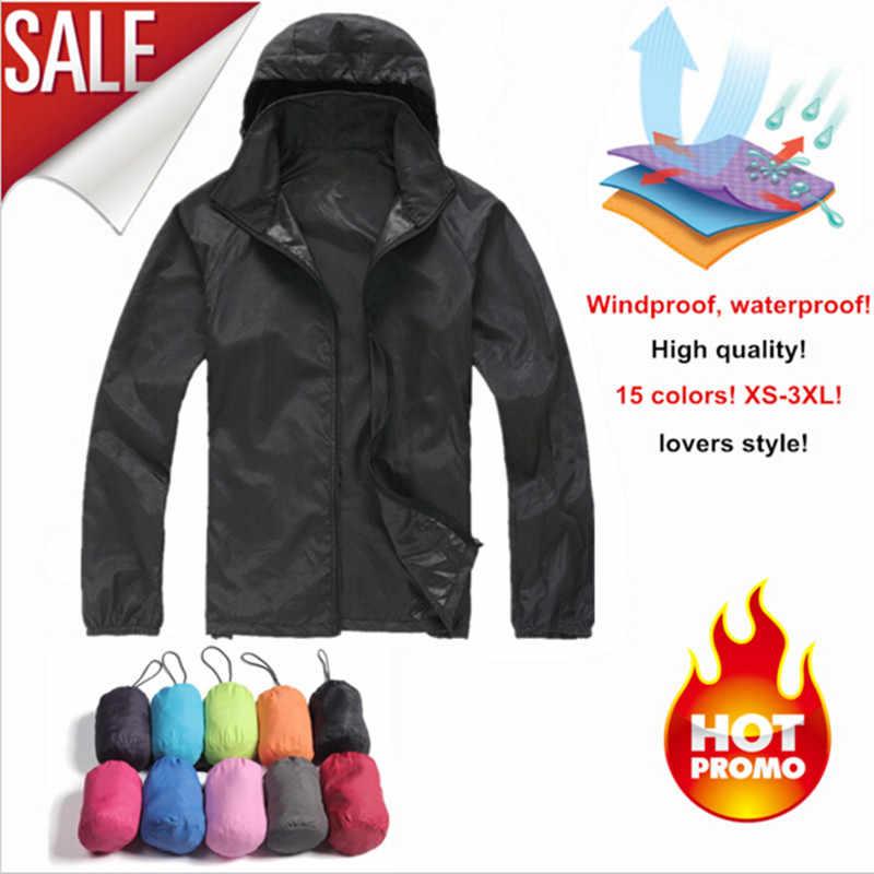 Jaqueta de esporte ao ar livre blusão impermeável anti-uv proteção solar movimento casaco de secagem rápida masculino mulher ultra-fino caminhadas jaquetas