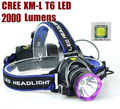 AloneFire HP81 Headlight Cree XM-L T6 2000LM cree led Head lamp light led for 1/2 x18650