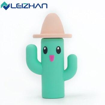 LEIZHAN Cactus USB Flash Drive 64GB 32GB 16GB 8GB 4GB Tablet PC USB Mmeory Stick Pen Drive Cute Pendrive usb 2.0 Thumb drive