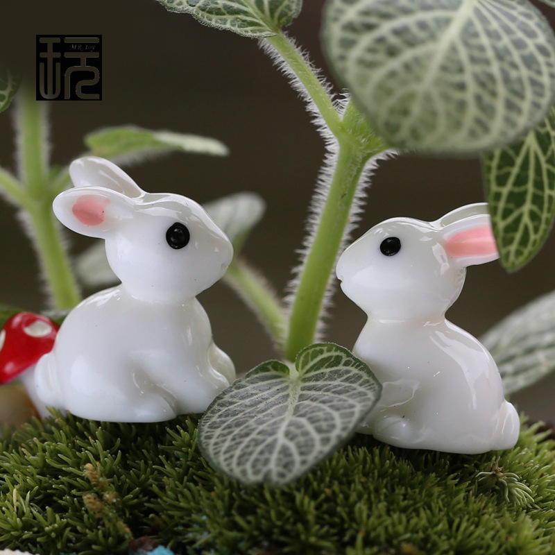 Small Toy Rabbits : Aliexpress buy pcs lot white rabbits model mini