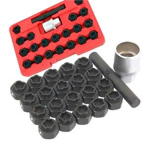22Pc Wheel Locking Nut Key Socket Sets For BMW 1 3 5 6 & 7 Series 1/2