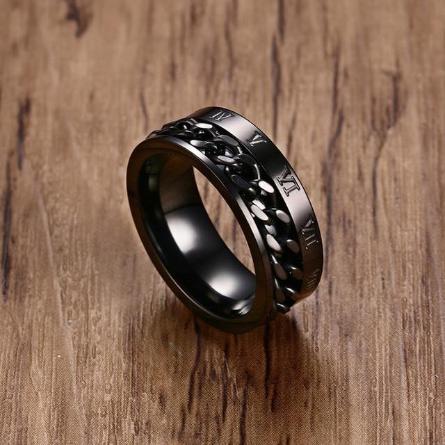 Купить модное мужское кольцо спиннер ювелирные изделия кольца из нержавеющей
