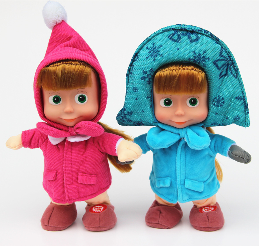 Russia hot selling electric toys winter Martha big eyes doll talking singing walk recording Martha
