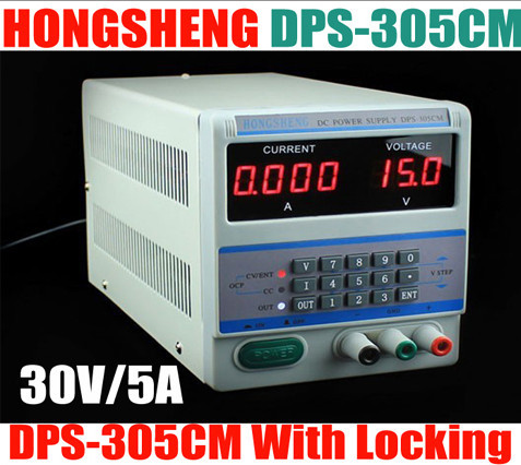 4Ps Adjustable dc 220V Digital Control 30V 5A DC Voltage Power Supply DPS-305CM storage lock for Laptop Repair cps 6011 60v 11a digital adjustable dc power supply laboratory power supply cps6011