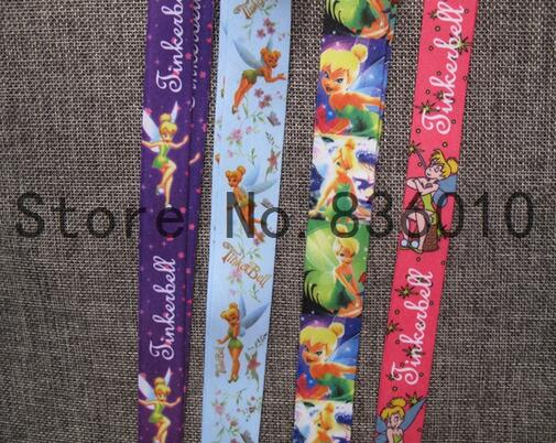 1pcs Tinker Bell   Key Chains Mobile Cell Phone Lanyard Neck Straps   Party Favors SZ-05