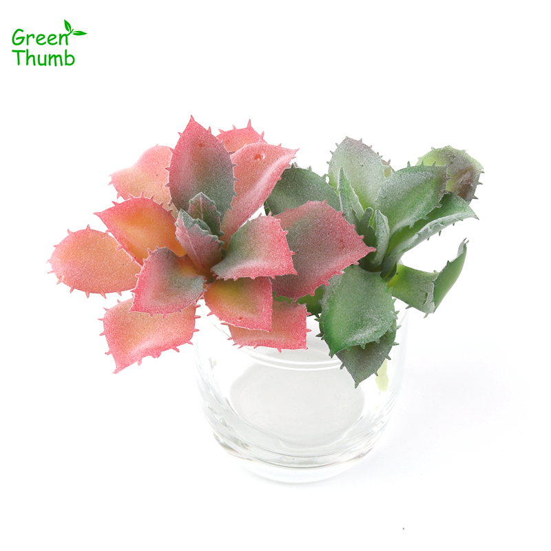 10pcs Green Thumb 12cm Artificial Simulated Succulent Plants Home Garden Office Creative DIY Artificial Flocking Aloe Vera