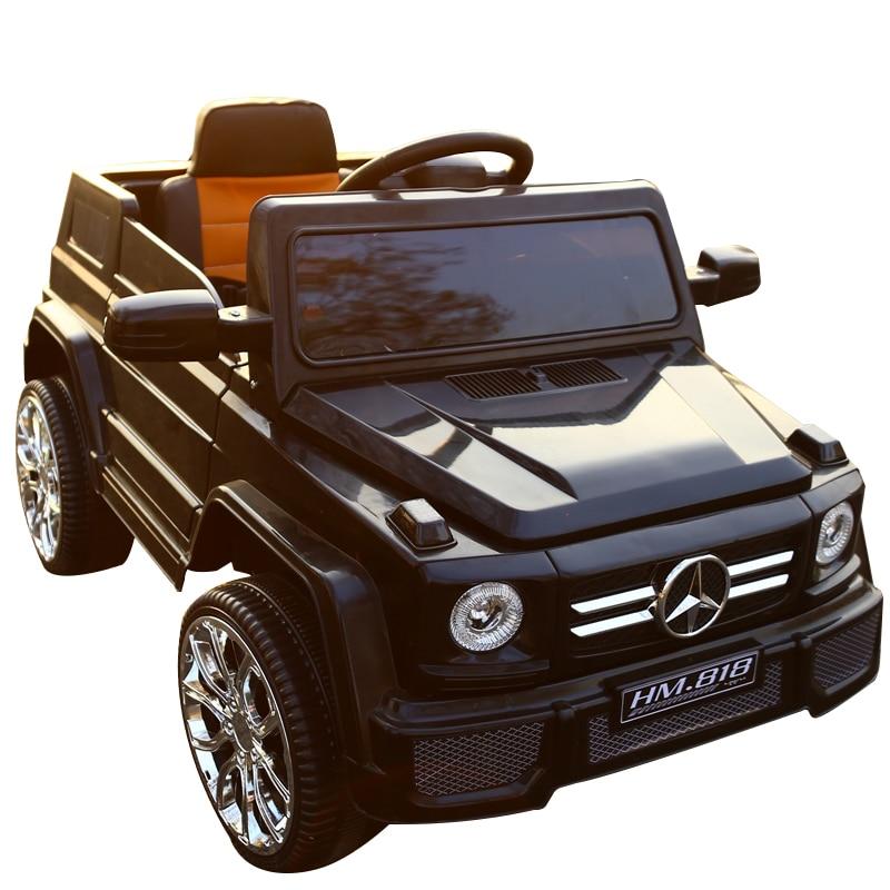 Véhicules électriques tout-terrain pour enfants à double entraînement à quatre roues bébé balançoire chariot bébé jouet batterie voiture avec télécommande - 6