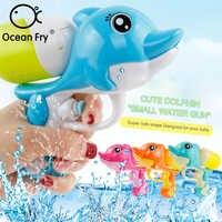 Brinquedos de banho do bebê pistola de água spray chuveiro crianças praia pistola de água dolphin squeeze banheiro presente para brinquedo do bebê atacado brinquedos