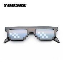61f55bfef65 YOOSKE Vintage Deal With It Glasses Men Thug Life 8 Bit MLG Pixelated  Sunglasses Women Party Mosaic Eyeglasses Pixel Eyewear