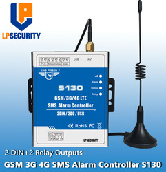 LPSECURITY GSM 3G 4G RTU SMS Remote Controller Alarm System 2 DIN 2 DO IOT Controller for Automation monitoring System S130