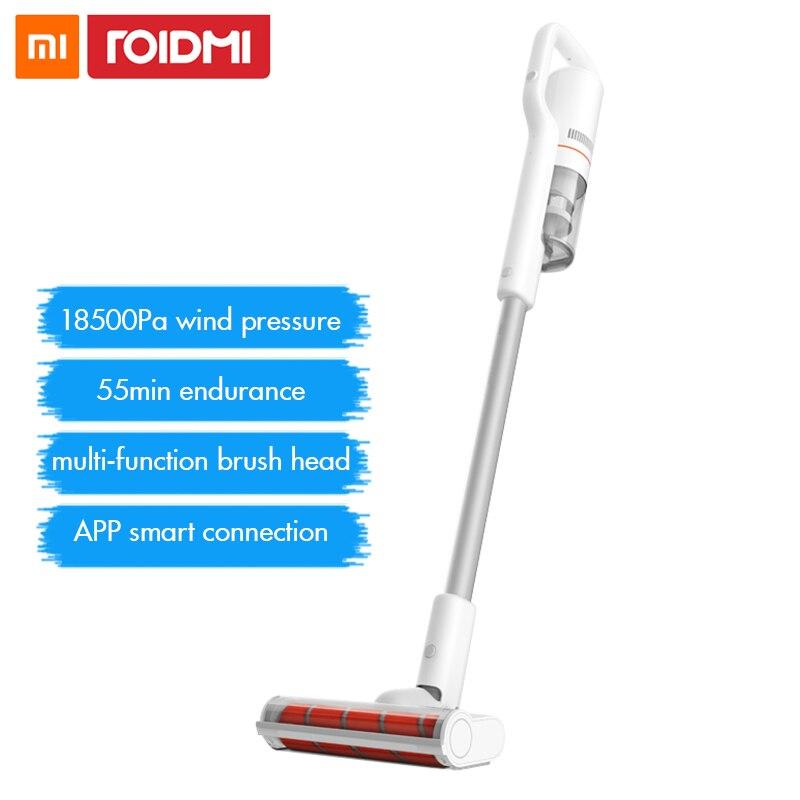 Xiaomi Roidmi F8 aspiradora de mano para casa colector de polvo bajo ruido ciclón Bluetooth Wifi LED multifuncional