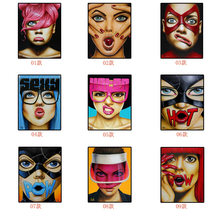 Nordic Women's Facial Expression Package Abstract Poster Modern Canvas Painting Living Room Dining Room Wall Painting Home Decor(China)