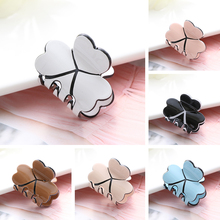 1PC Acrylic Women Mini Four Leaf Clover Hairpins Colorful Hair Claws Clips Clamp Barrettes Pins Styling Tools Accessories