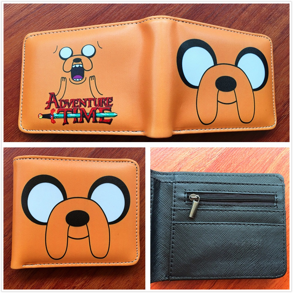 Hot sale Cartoon Cute ADVENTURE TIME Students Wallets For Boys Girls Bifold Short Men Purse  Dollars Holder W545
