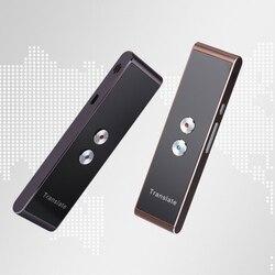 Tradutor de voz inteligente portátil t8 em dois sentidos em tempo real 30 tradução multilíngue para aprender a viajar reunião de negócios