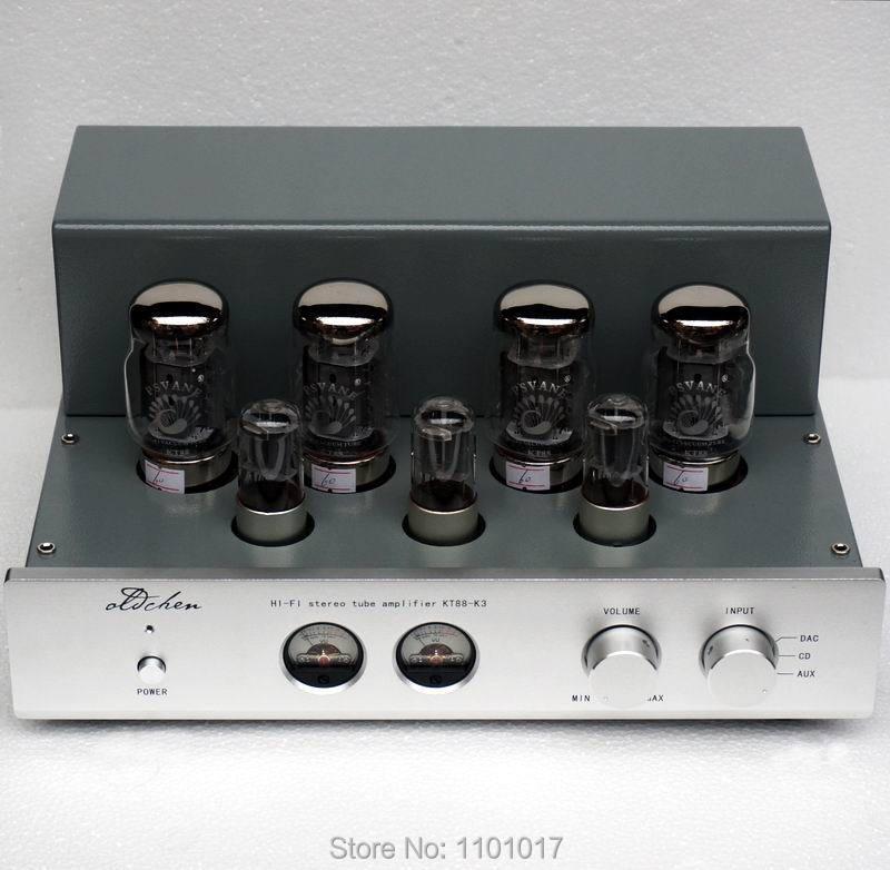 LaoChen K3 KT88 Push-Pull Tube Amplificateur HIFI exquis AIQIN 45Wx2 Catégorie A à la main Échafaudages amp OCK3 OldChen