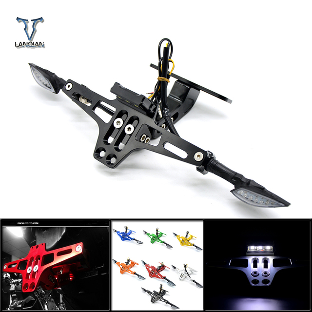 Universal Accessories moto License Plate brackets For  jog yamaha  yz yzf 125 ybr r1 r3 yamaha motocycle parts mt 03 07 09