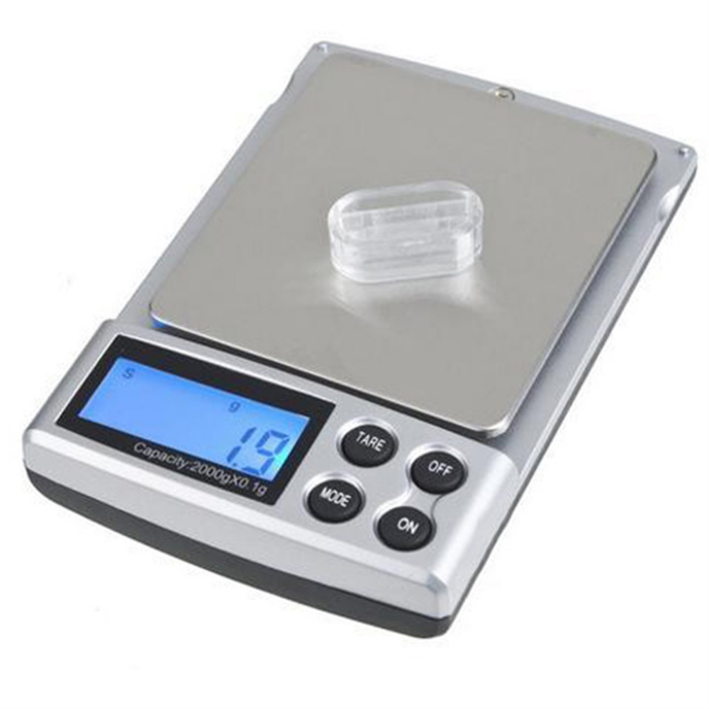 1pc Holiday Sale 2000g x 0.1g Pocket Electronic Digital Jewelry Scales, Weighing Kitchen Scales Balance Hot Sale