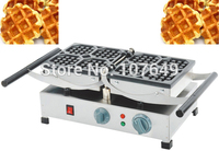 110V 220V Commercial Use Non Stick Electric Belgian Waffle Liege Baker Machine