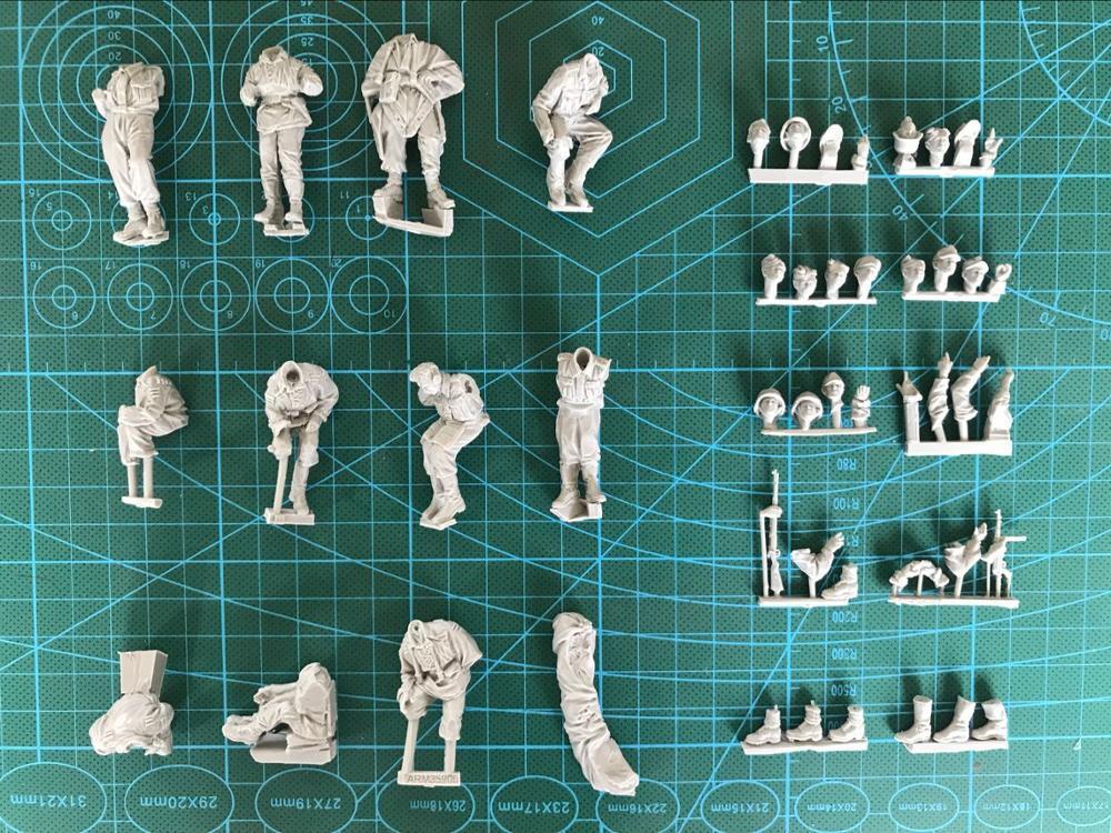 Oyuncaklar ve Hobi Ürünleri'ten Modeli Yapı Setleri'de 1/35 Reçine Şekil Modeli Kiti Unassambled Boyasız 465 (11 figürleri HIÇBIR ARABA)'da  Grup 2