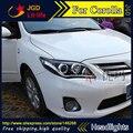 Бесплатная доставка! стайлинга автомобилей LED HID Рио СВЕТОДИОДНЫЕ фары Головной Лампы для Toyota Corolla 2011 2012 2013 Би-Ксеноновые Линзы ближнего света