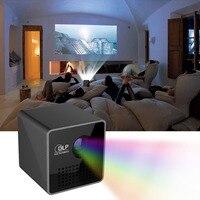 P1 + мини мобильный Беспроводной Wi Fi/TF Портативный мобильный проектор, карман домашнего кино проектор умный дом Театр DLP проектор