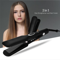 2 In 1 Hair Steam Straightener Curler Electric Ceramic Anion Infrared Ray Flat Irons Hairpins Hair Straightening Styling Tool 37